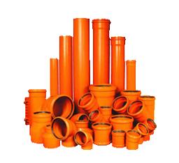 PVC Riolering Roodbruin